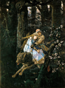Картина иван царевич на сером волке 1889 г.