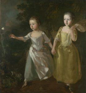 Портрет дочерей преследующих бабочку