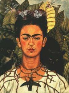 Автопортрет Фриды Кало с терновым венцом и колибри