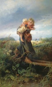 Дети, бегущие от грозы 1872 г.
