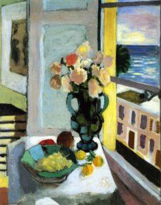 Натюрморт с цветами и виноградом 1922 г.