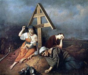 Сцена на могиле 1859 г. Третьяковская галерея