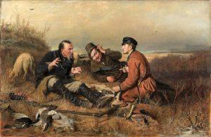 Охотники на привале 1871 г.