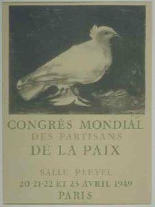 Плакат всемирного конгресса сторонников мира в Париже 1949 г.