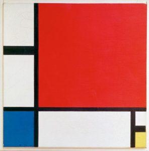 плоскости в красном, синим и жёлтым 1930 г.