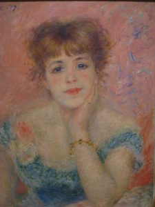 Портрет актрисы Жанны Самари 1877 г.