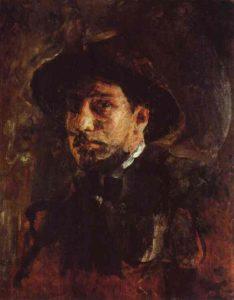 В А Серов Автопортрет 1885 г.