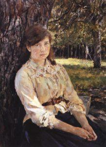 Девушка, освещённая солнцем 1888 г.