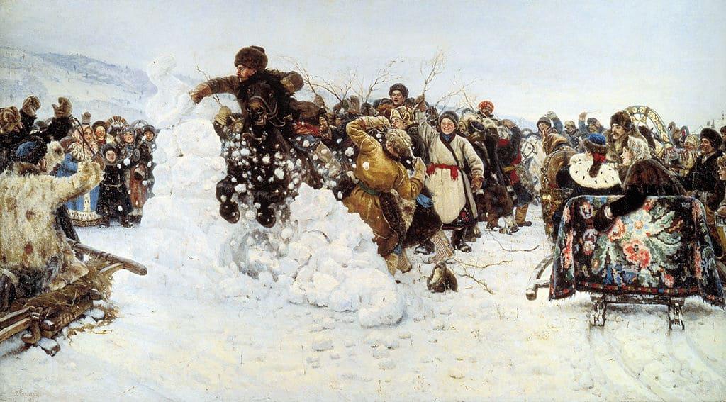 Взятие снежного городка 1891 г.