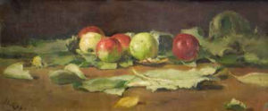 Яблоки на листьях 1879 г.
