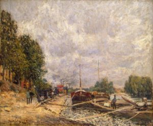 Баржи в Бийянкуре 1877 г.
