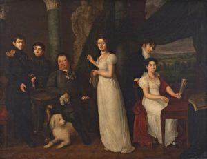 Семейный портрет графов Морковых, 1813 г.