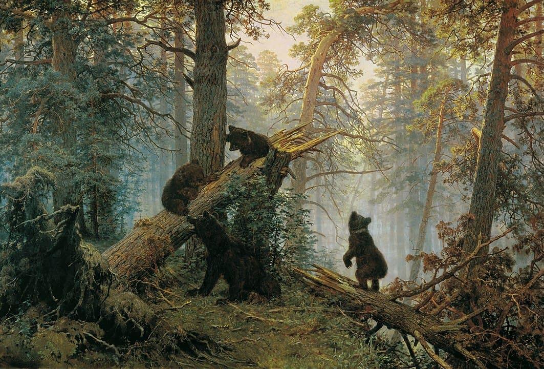 Утро в сосновом лесу 1889 г.