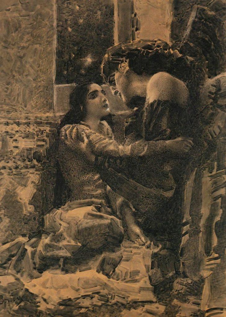 Тамара и демон илл. к поэме Лермонтова, 1890 г.