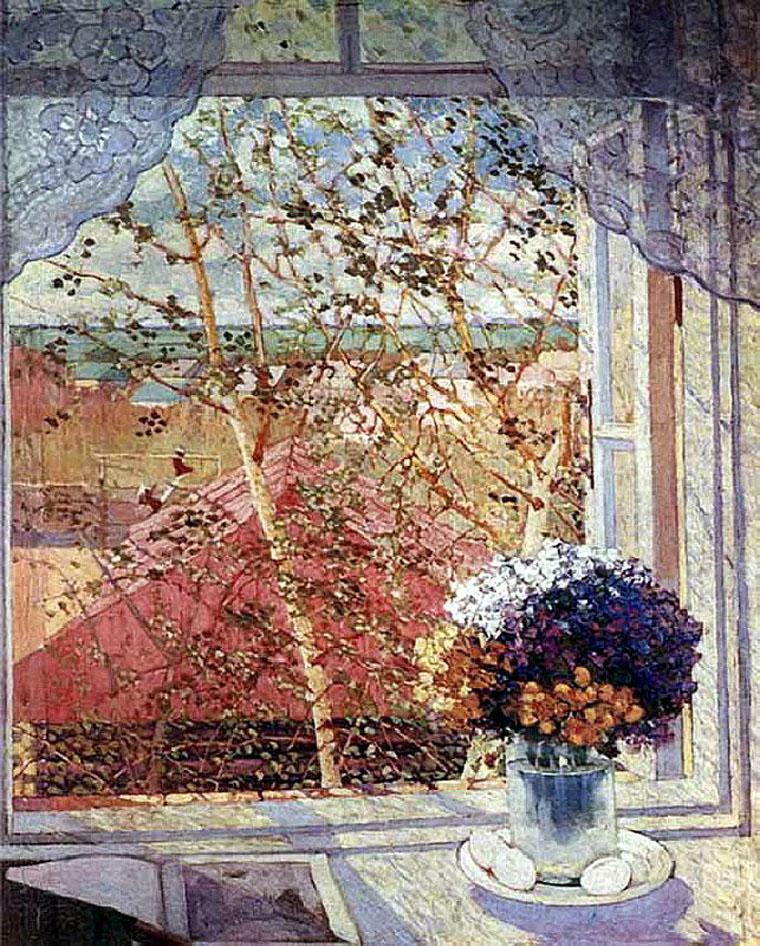 Букет цветов. Окно 1914 г.