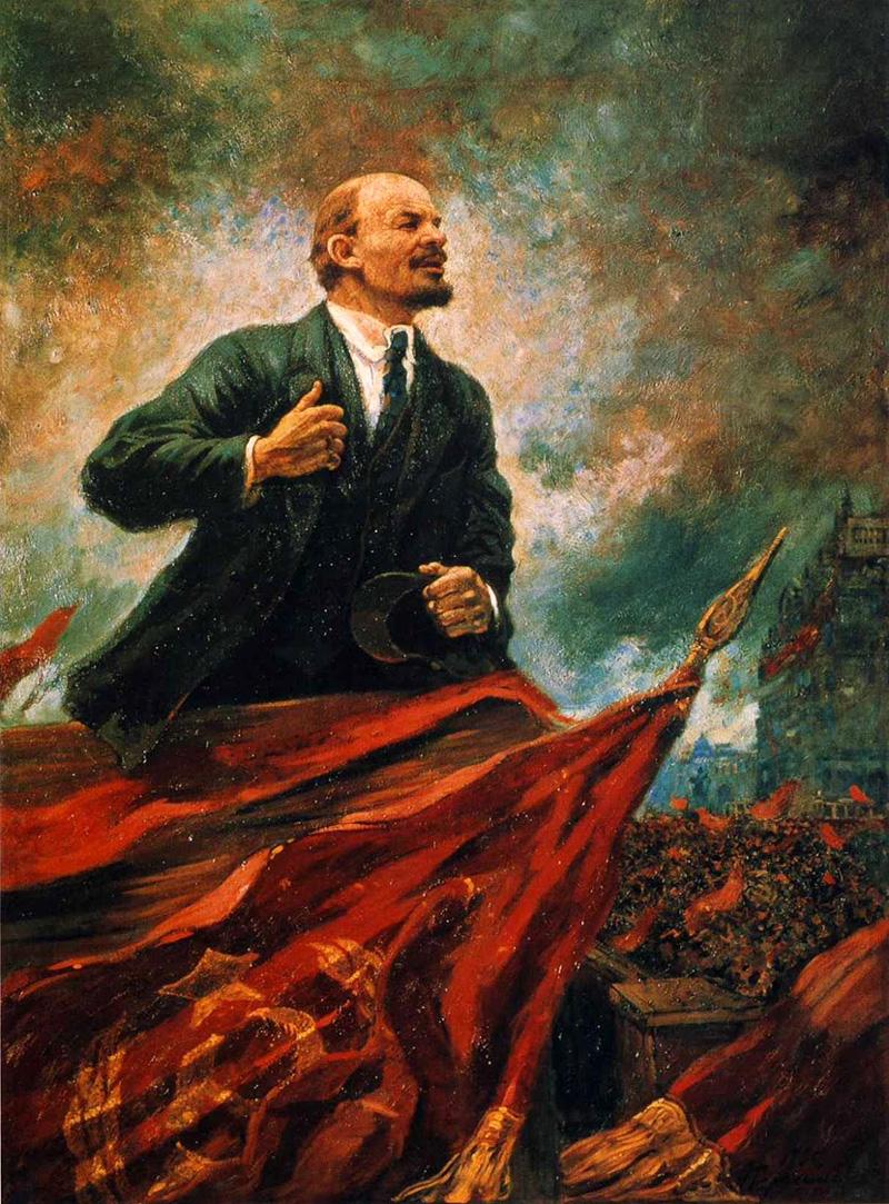 Ленин на трибуне 1929/30 г.