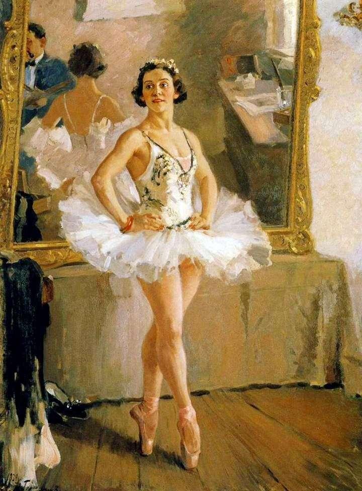 Портрет балерины Лепешинской 1939 г.